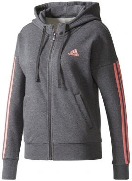 bd83cfdd6d6 bol.com | adidas - Essentials 3-Stripes Full Zip Hood - Dames - maat XL