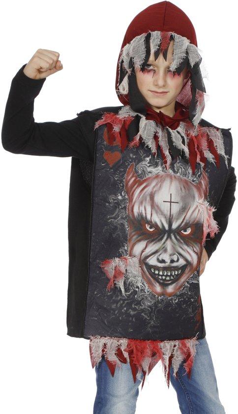 Monster & Griezel Kostuum   Hoody Scary Devil   Jongen   Maat 128   Halloween   Verkleedkleding