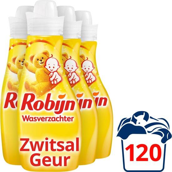 Robijn Zwitsal wasverzachter - 120 wasbeurten - 4 x 750 ml