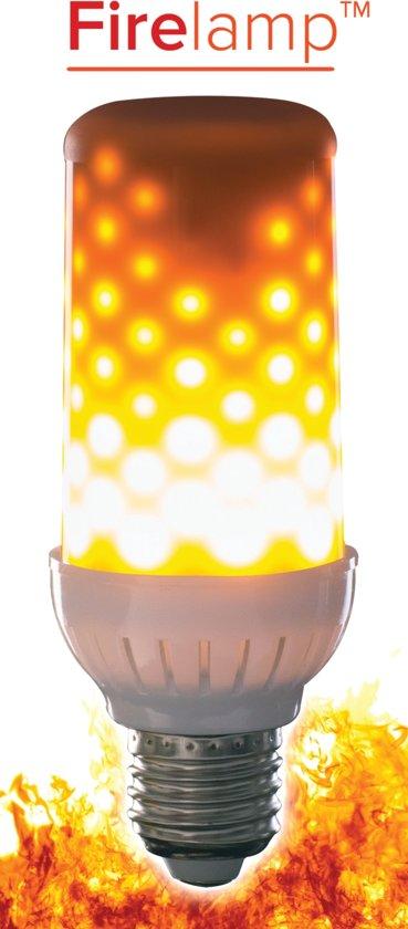 LED Fire lamp met vuur-simulatie MAT (voor fitting onder)