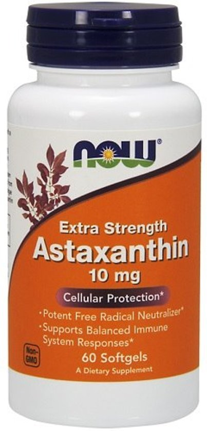 Astaxanthine 10mg Now Foods 60softgels