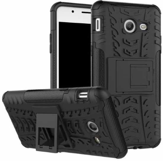 Samsung Galaxy J7 2017 Schokbestendige Back Cover Zwart
