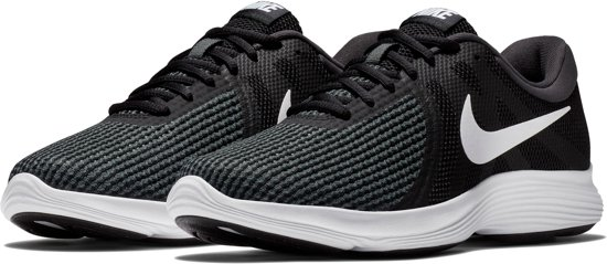 Nike Revolution 4 EU Sneakers Dames - Black/White-Anthracite - Maat 36