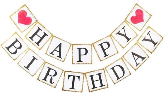 Bol Com Happy Birthday Slinger Verjaardag Wit Vierkant Ranido