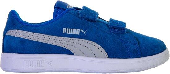 4600ceee289 Puma Smash v2 SD Sneakers Junior Sneakers - Maat 30 - Unisex - blauw/wit