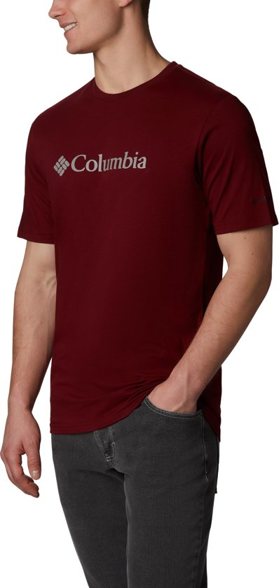 Columbia CSC Basic Logo  Short Sleeve Heren Outdoorshirt - Red Jasper - XL