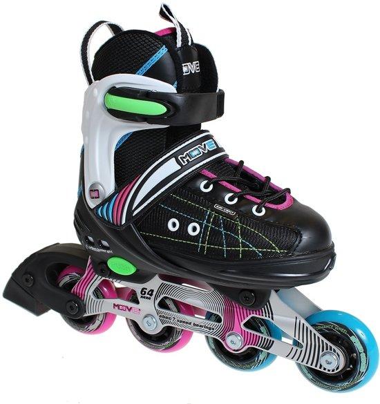 61cad1afcd9 Move Inline Skates Urban Junior Girl Zwart Roze Maat 29-33