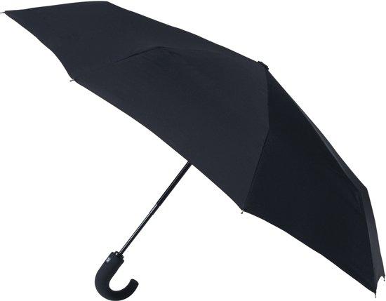 miniMAX Luxe Opvouwbare Automatic Open & Close Paraplu met Haak - Zwart