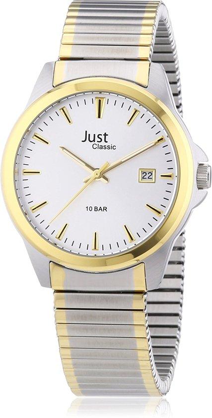 Just horloge  met rekband voor heren met datum.48-S2307B-SL.
