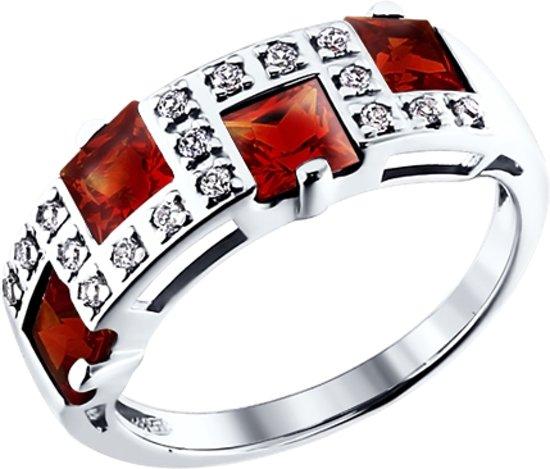 SOKOLOV Jewelry Zilveren Ring - Granaat