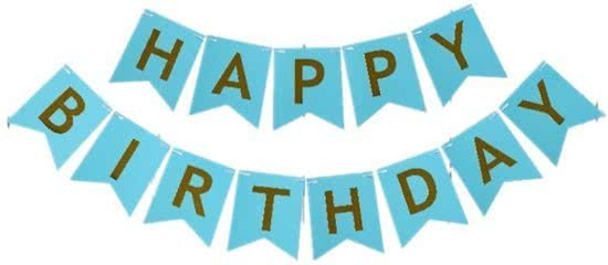 Bol Com Happy Birthday Slinger Verjaardag Blauw Ranido Speelgoed