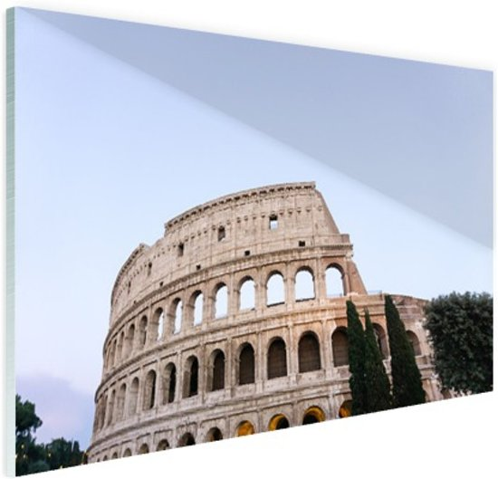 Colosseum Glas 30x20 cm - Foto print op Glas (Plexiglas wanddecoratie)