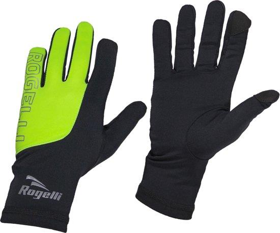 Handschoenen met touch Zwart/Fluor Maat S