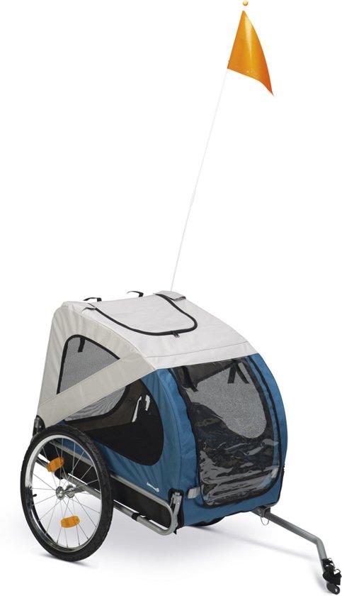 Beeztees Barino - Hondenfietskar - Grijs / Turquoise - 125 cm