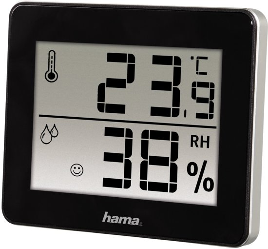 Hama Thermo/Hygrometer TH-130 - Zwart