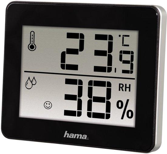 Hama Thermo/Hygrometer TH-130 - Zwart