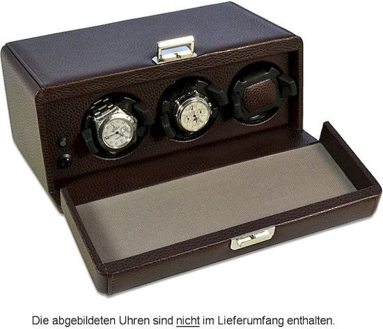 Scatola del Tempo Watchwinder Rotor 3RT OS Dark Brown