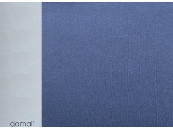 Damai Dubbel Jersey Hoeslaken - Ledikant - 60x120 cm - Blue