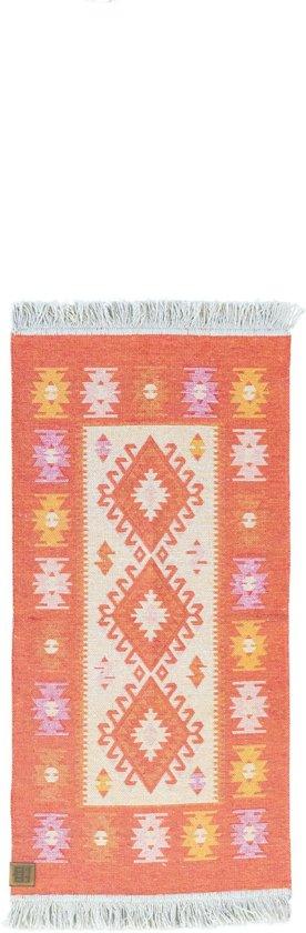 Kaira Vloerkleed - 60x125 - Oranje - by Okashi Heritage