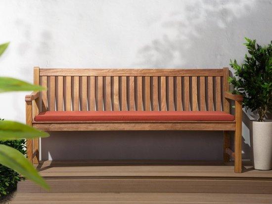 Beliani Java Tuinbank+zitkussen Licht houtkleur