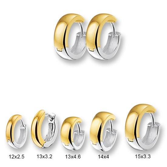 Huiscollectie 4200198 Bicolor gouden oorringen bol