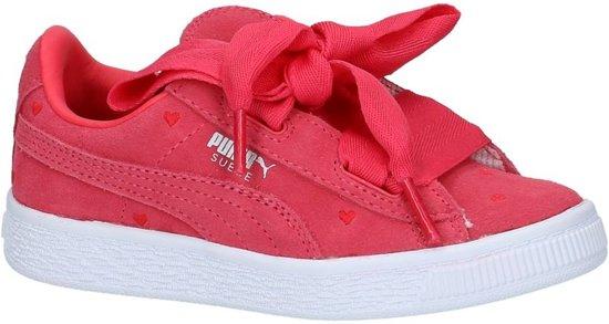 645840a8615 bol.com | Puma - 365136 - Lage sneakers - Meisjes - Maat 35 - Roze ...