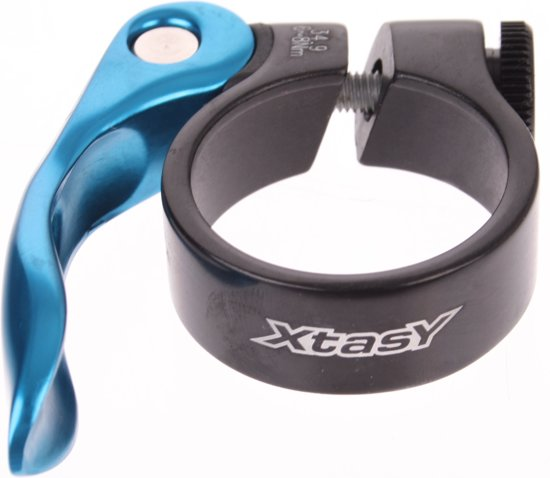 Xtasy Zadelpenklem En Snelspanner Scq-100 34,9 Mm Zwart/blauw