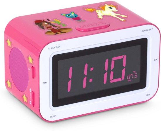 Kinderwekker Met Licht : Bol bigben wekkerradio met stickers roze