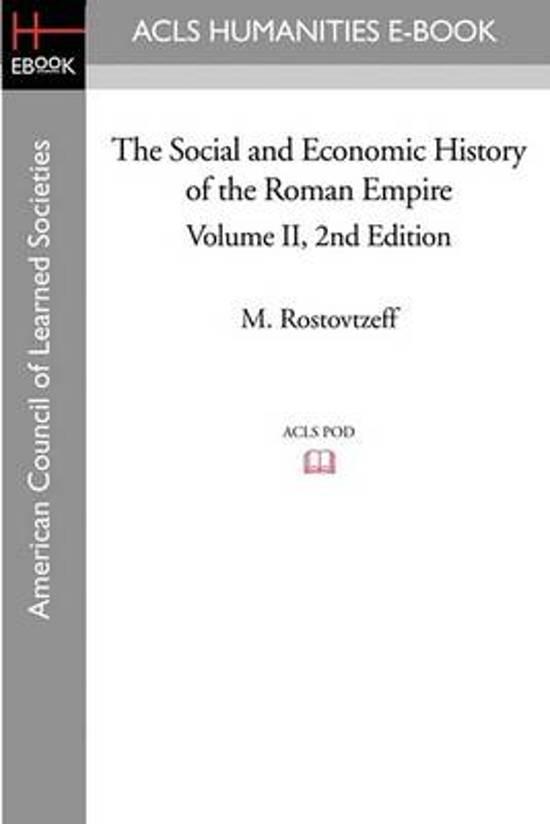 Boek cover The Social and Economic History of the Roman Empire Volume II 2nd Edition van M Rostovtzeff (Paperback)