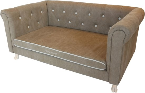 Happy-House Sofa 124.5x66x55 cm Taupe Off-White Naturel