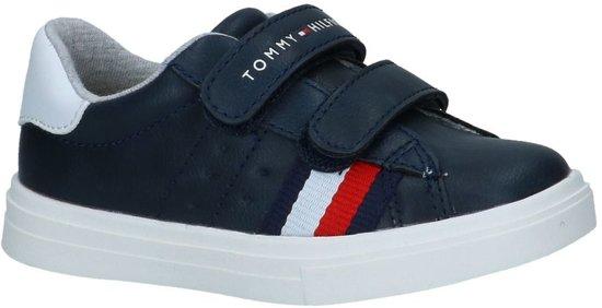 33e2a96fe73 Tommy Hilfiger Jongens Sneakers Low Cut Velcro Sneaker - Blauw - Maat 27