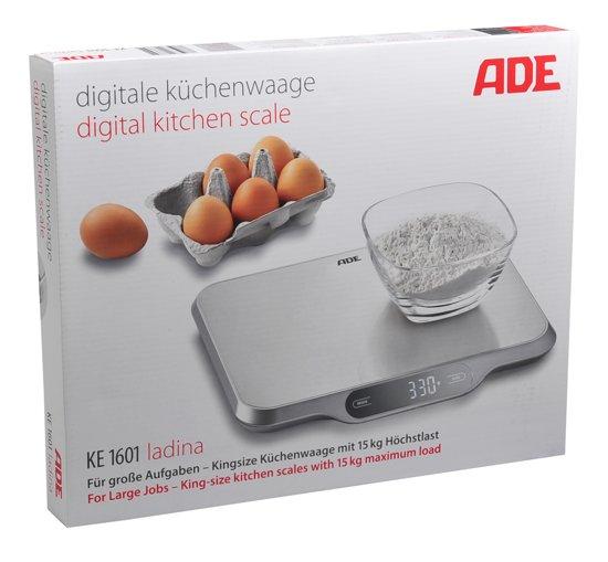 ADE Weegschaal Ladina - keukenweegschaal - zilver