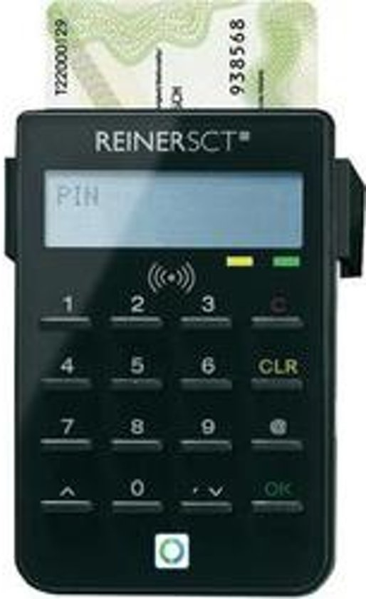 Reiner SCT cyberJack RFID standard smart card reader Zwart