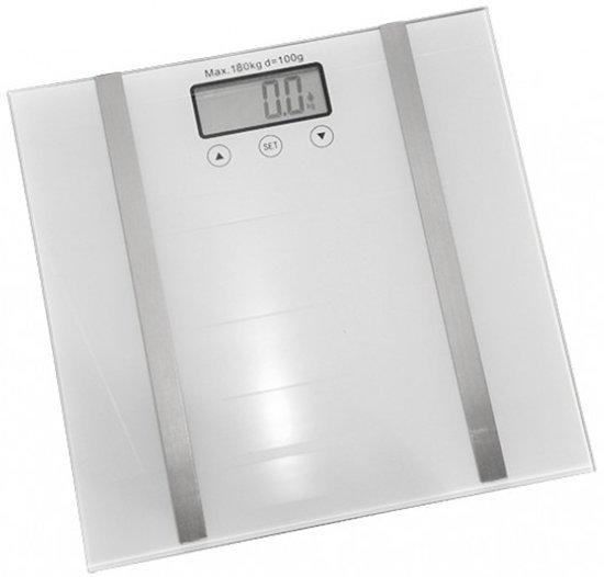 Hi Digitale Weegschaal - Max 180 KG - Geheugen tot 10 profielen - Meet je: Gewicht/Lichaamsvet/Watergehalte/Spiermassa & Botpercentage!
