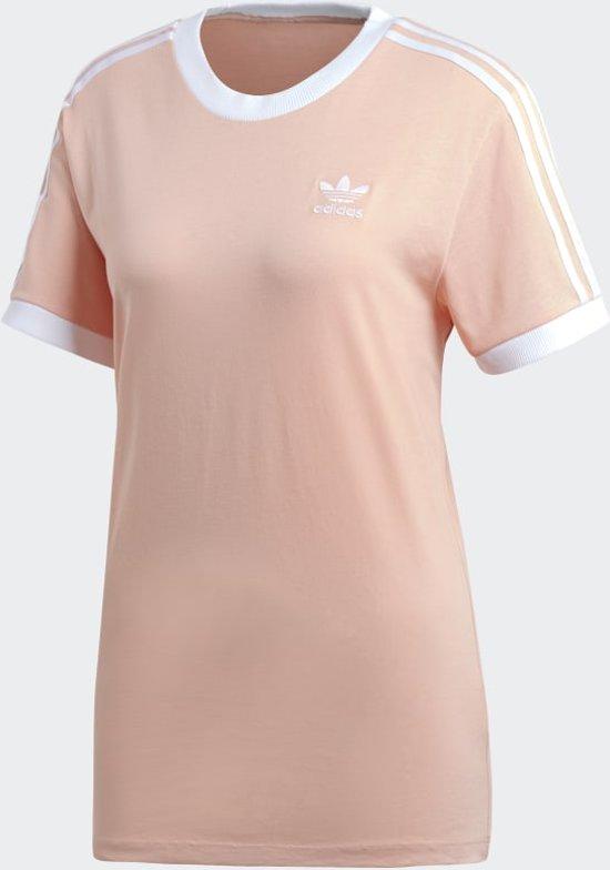 bol.com   adidas 3 Stripes Tee Dames Shirt - Dust Pink - Maat 36