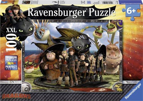 Ravensburger puzzel Dragons - Legpuzzel - 100 stukjes