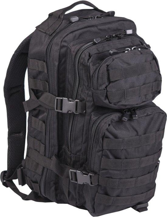 US Assault pack Molle rugzak Zwart ca 40 L