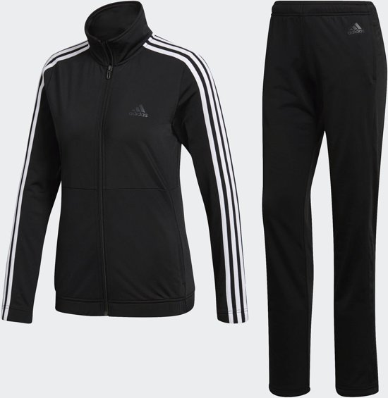 d6aef93a225 adidas Back2Basics 3Stripes Tracksuit Trainingspak Dames - Black/White/Black