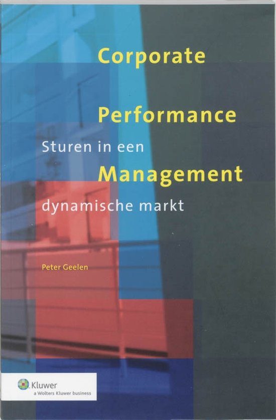 Boek cover Corporate Performance Management van P. Geelen (Paperback)