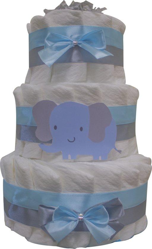 Luiertaart / pampertaart jongens 3-laags maat 2 (4-8 kg) Kraamcadeau, Babyshower, Geboortecadeau