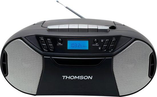 Thomson RK250UCD Draagbare Radio/CD/Cassette/MP3-Speler - Zwart