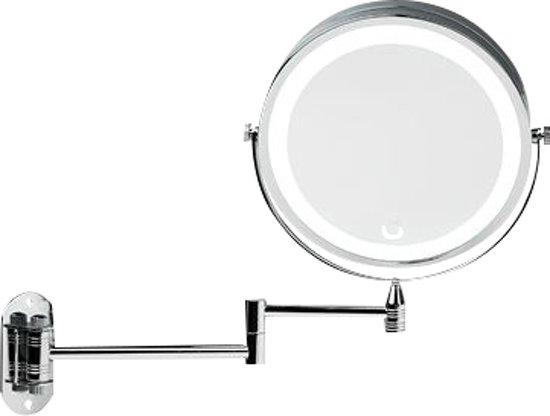 wandspiegel met led verlichting scheerspiegel make up spiegel 10x vergrotend