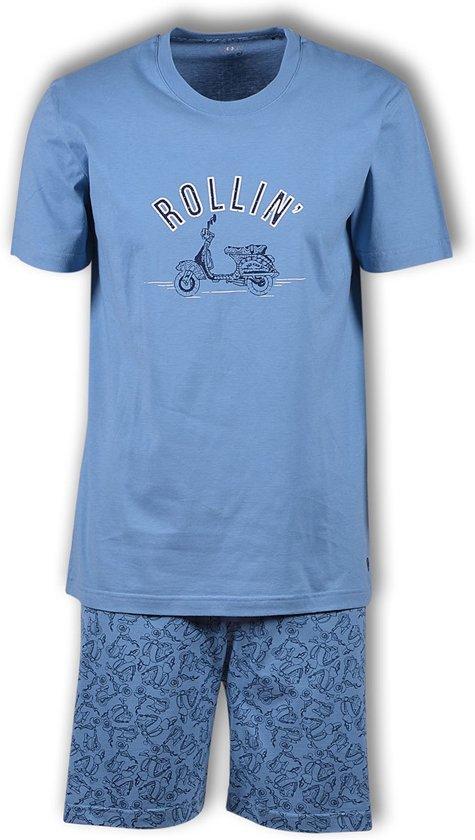 Woody pyjama jongens -  blauw - 191-1-qpc-s/828 - maat 164