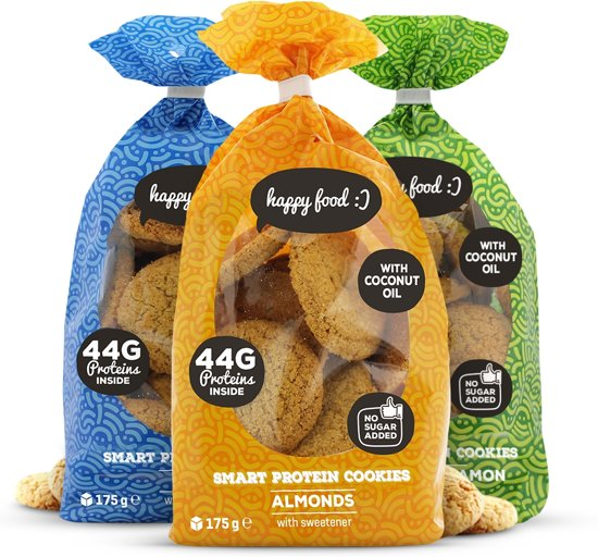 Body & Fit Smart Protein Cookies - Suikerarme eiwitkoekjes - 1 pak (21 cookies) - Coconut