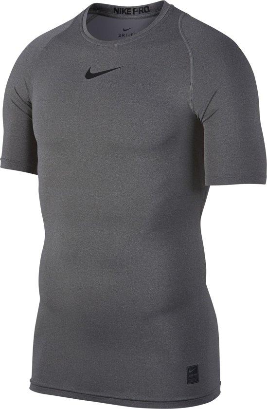 eb658c10901 bol.com | Nike Pro Top Ss Compression Sportshirt Heren - Grijs