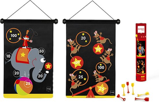 Afbeelding van het spel TWEEZIJDIG MAGNETISCH DARTSPEL CIRCUS