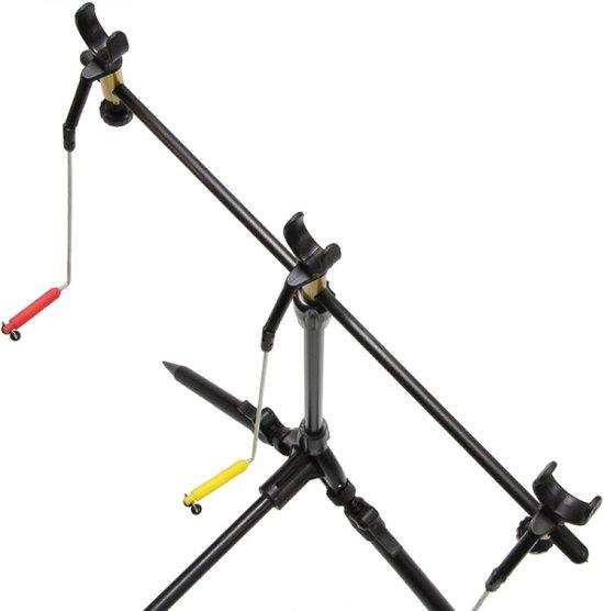 NGT Session Rodpod met Swingers en Steuntjes - 3 hengels - inclusief Buzzerbars, hengelsteunen en swingers - 117 x 71cm - Zwart