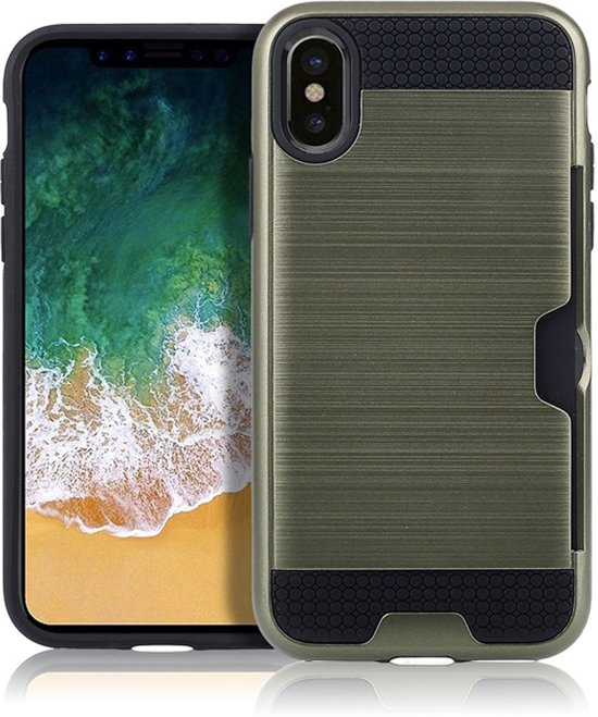 Mobigear Brushed Leger Groen iPhone Xs Max