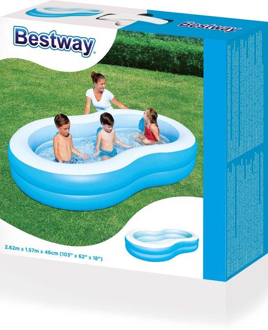 Bestway Opblaasbaar Zwembad 2 Rings - 262 x 157 x 47 cm