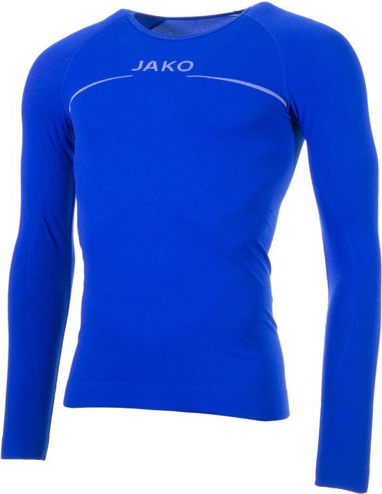 Jako Shirt Comfort LM Heren Sportshirt - Maat L  - Mannen - blauw